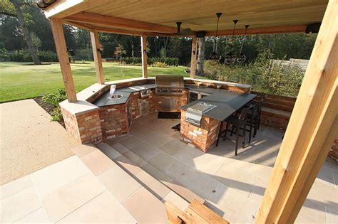 garden kitchen design outdoor kitchen sussex arun landscapes