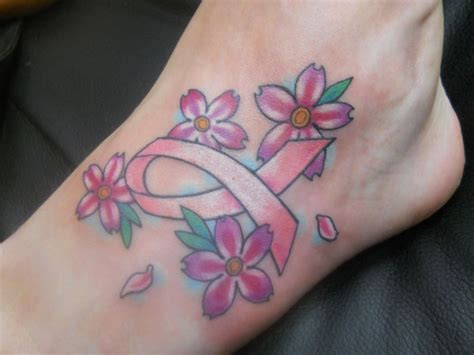 cancer ribbon tattoos designs ideas to give support to the