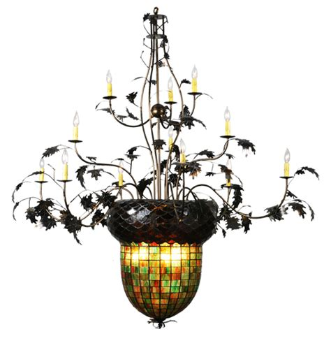 Acorn Chandelier Acorn Stained Glass Chanderlier