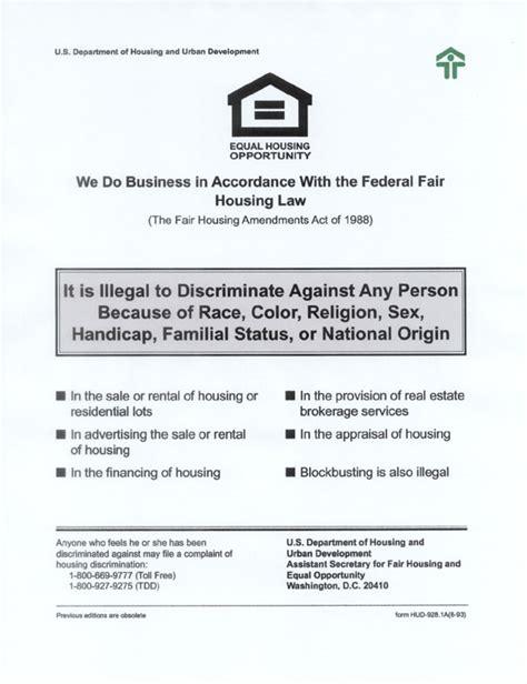 printable fair housing poster fair housing poster