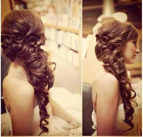 pageant style curling hair curly braid for long hair wedding hair makeup