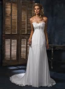 Dresses online chiffon a line strapless scoop neckline wedding dress