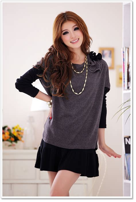 Sweater Tebal Atasan Wanita Fashion Korea Big Size Best Seller Blou fashion big size blouses p k2104 darkgray p k2104 15 87 yuki wholesale clothing wholesale