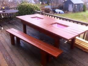 Patio Table With Built In Cooler 8 Patio Table With Built In Coolers Diy Coolers Tables And Built Ins