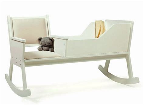 Rocking Chair With Cradle by Rockid Combines Rocking Chair And Cradle In One Smart Design