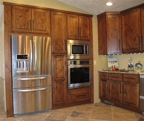 built in oven cabinet custom built in raised panel refrigerator and oven cabinet