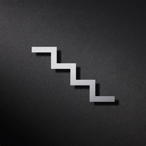 Treppe Nach Unten by Phos Edelstahl Piktogramm Treppe Nach Unten Piktogramme