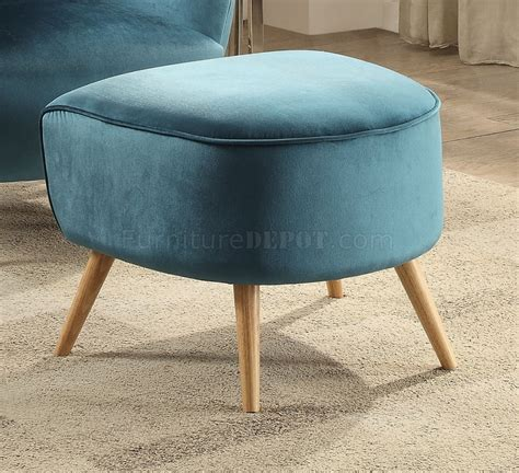 Teal Velvet Accent Chair Aislin Accent Chair 59655 In Teal Velvet By Acme W Option
