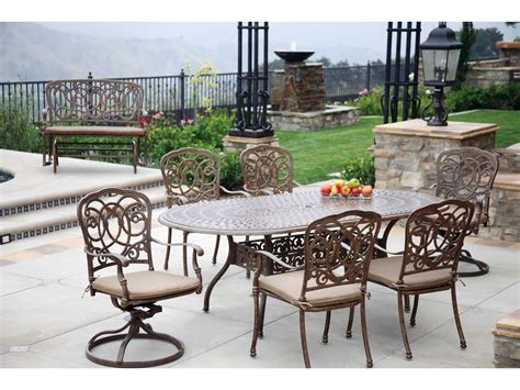 Darlee Patio by Darlee Outdoor Living Series 60 Cast Aluminum 84 X 42 Oval