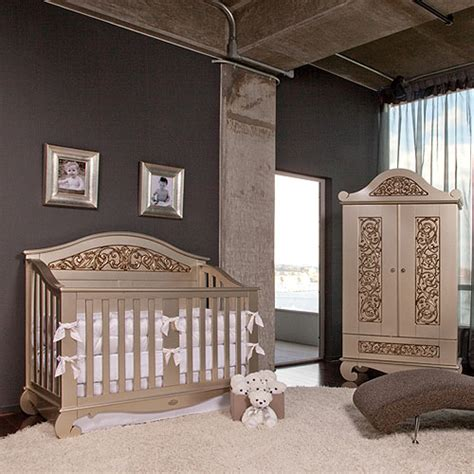 Silver Baby Crib by Chelsea Lifetime Crib In Antique Silver And Nursery