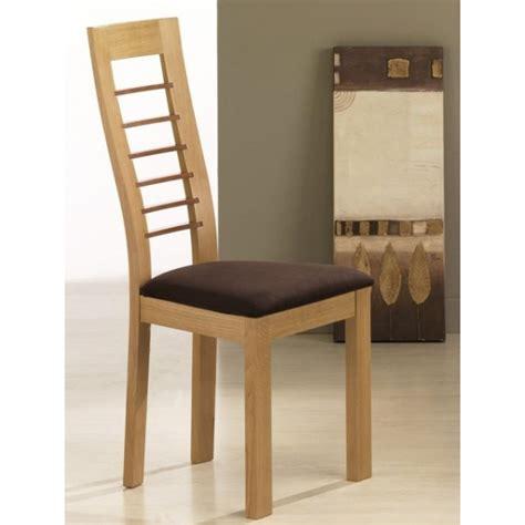 chaise en bois contemporaine cannelle