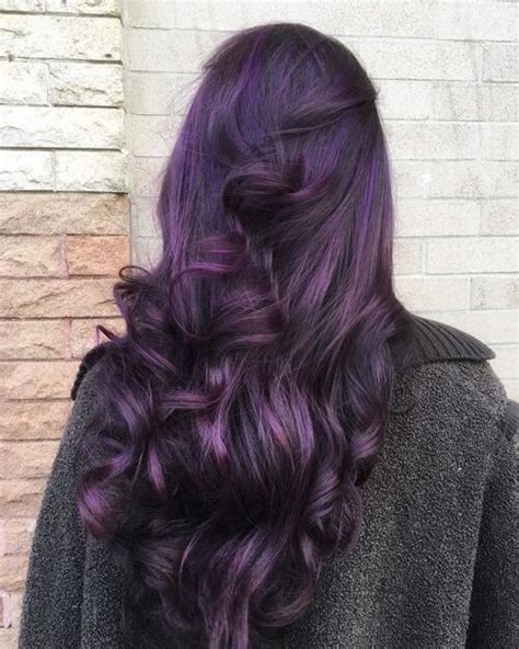 purple black hair color 35 bold and provocative purple hair color ideas