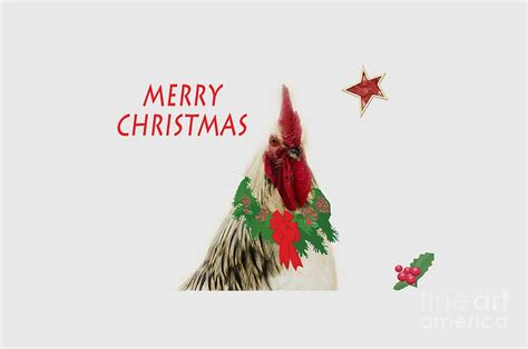 images of christmas roosters christmas rooster tee shirt photograph by donna brown