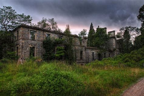 glen affric estate ruins of guisachan house tomich glen affric the uk