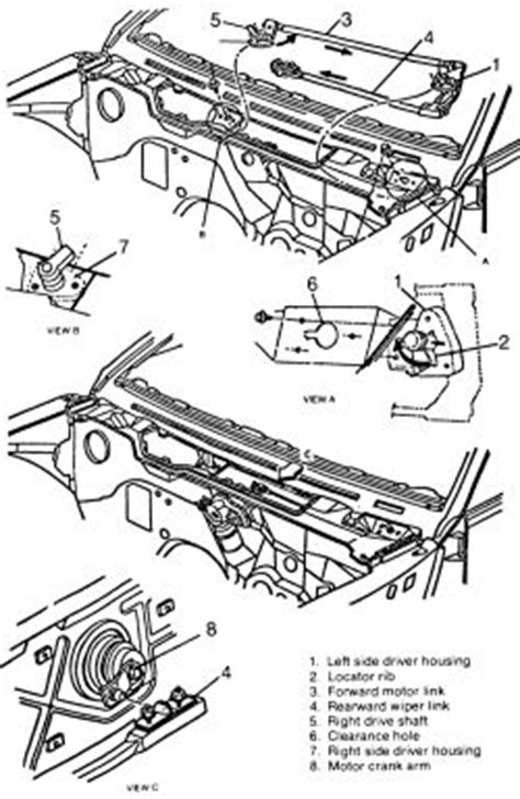 windshield wiper blade cowl removal 1992 dodge d150 club 1994 ford tempo 2 3l mfi ohv 4cyl repair guides