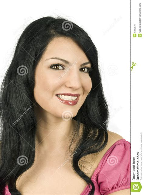 Hera Sourire De Bonheur Lipstick femme proche de sourire image libre de droits image 8232836