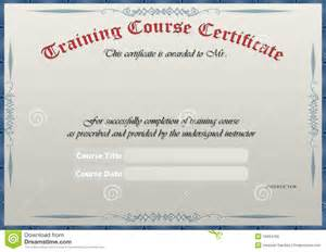 training certificate royalty free stock image image