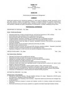 Resume Objectives For Warehouse Workers by Warehouse Resume Objective Exles Best Business Template