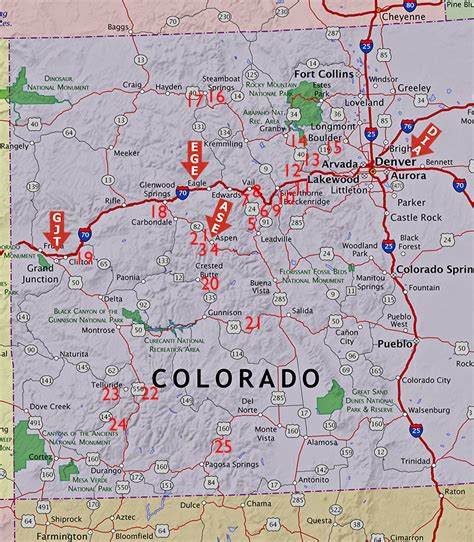 colorado ski areas map map of colorado ski towns pictures to pin on