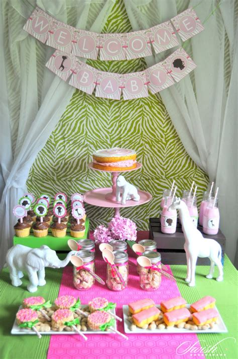 Pink Safari Baby Shower Ideas by It S A Jungle Out There With A Safari Baby Shower
