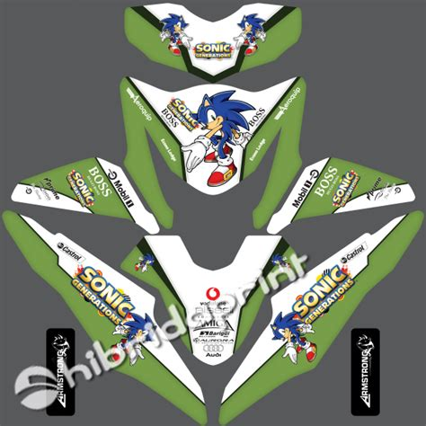 Striping Motor Honda Beat Fi Sonic 1 stiker honda beat fi sonic stiker motor pekanbaru