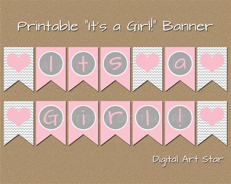 printable banner letters baby shower digital art star cute digital scrapbook paper and party