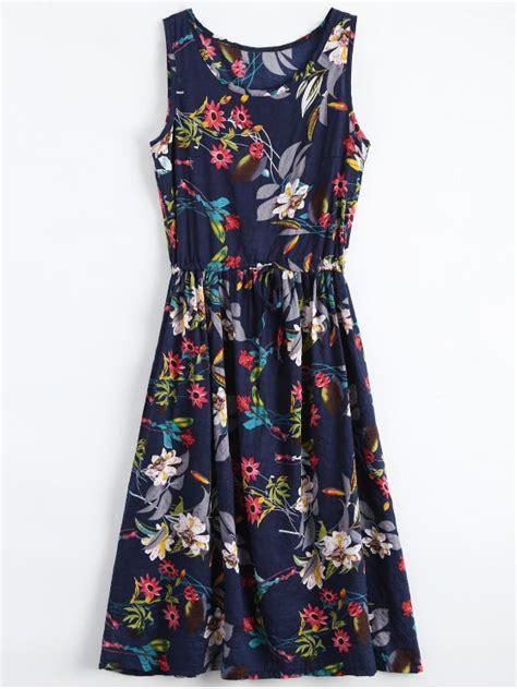 Flower Halter Top Ss M L 17705 floral drawstring sleevelss midi dress floral print dresses zaful