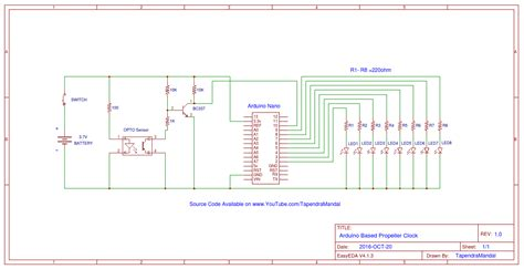Propeller Clock Circuit Diagram