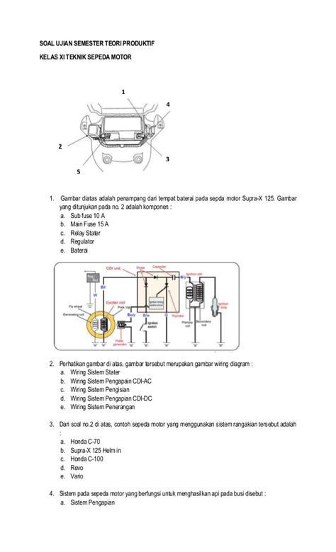 Lu Supra 125 wiring diagram kelistrikan supra x 125 k