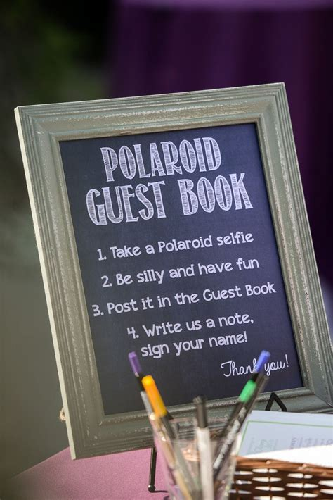 great guest book idea for a wedding reception photo by