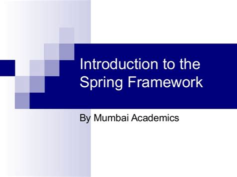 introduction to spring data ppt download spring ppt