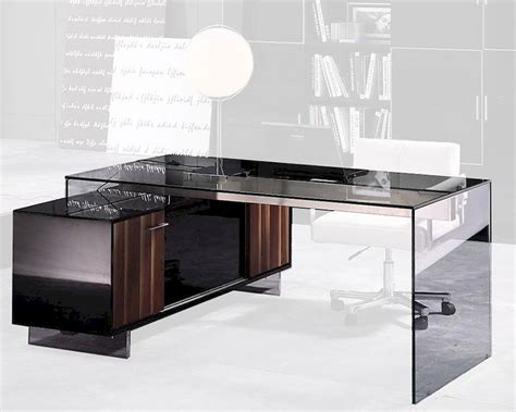 Glass Desks For Home Office Glass Office Desk In Contemporary Style 44f2668