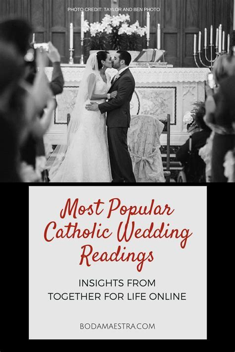 Most Popular Catholic Wedding Readings; catholic brides