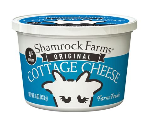 Cottage Cheese Shelf by Shamrock Farms Sour Cottage Cheese The Dieline