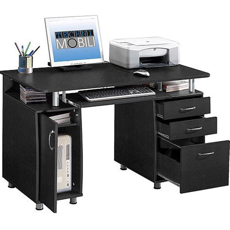 Techni Mobili Super Storage Computer Desk Espresso Walmart Furniture Computer Desk