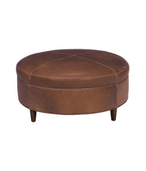 large round leather ottoman large round transitional leather ottoman club furniture