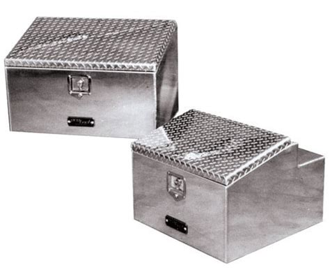 aluminum box aluminum sloped lid boxes for cab rack or frame mounting