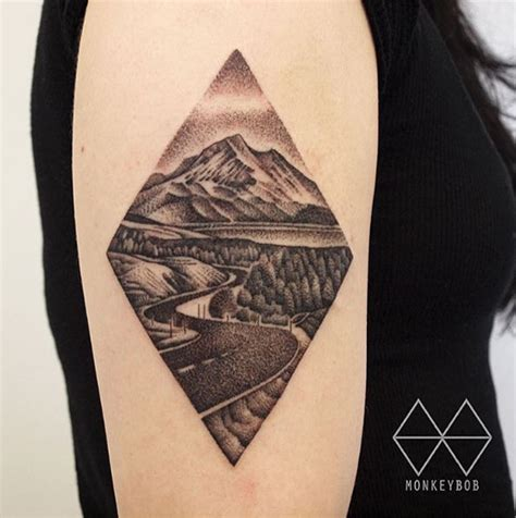 road tattoo designs 38 gorgeous landscape tattoos inspired by nature tattooblend