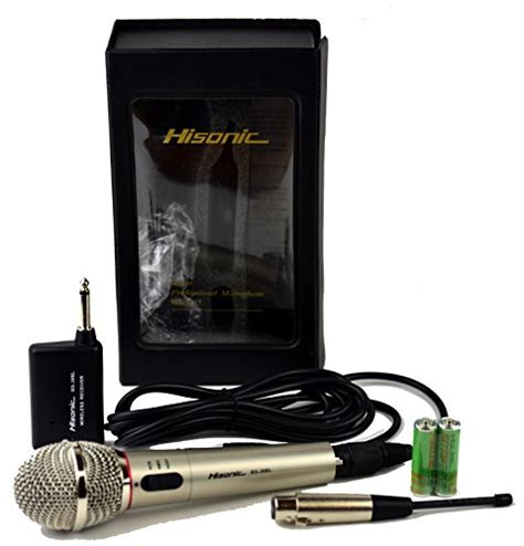 Microphone Werelles Merk Homic hisonic hs308l portable wireless and wired 2 in 1 microphone for home and stage use in the uae