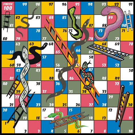 snakes and ladders printable template board coloring