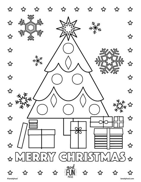 Merry Christmas Printable Coloring Page Honest To Nod Merry Colouring Pages Printable