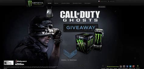 Electronic Sweepstakes - monsterenergy com cod monster energy call of duty ghosts sweepstakes