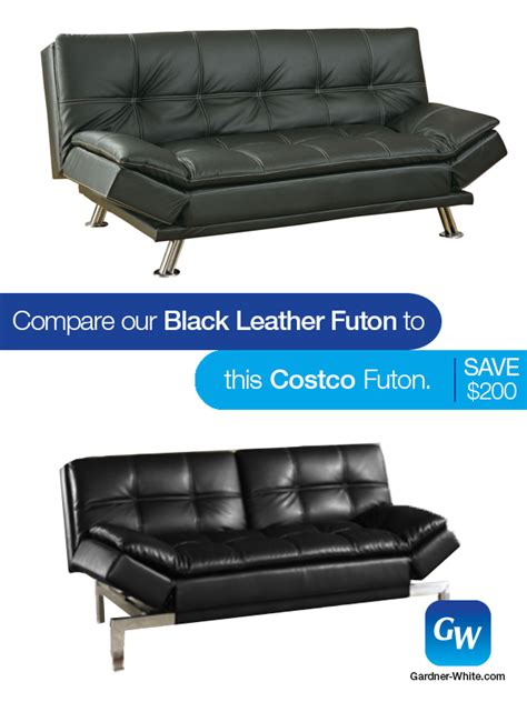 leather futon costco looks for less compare our leather futon to this one from
