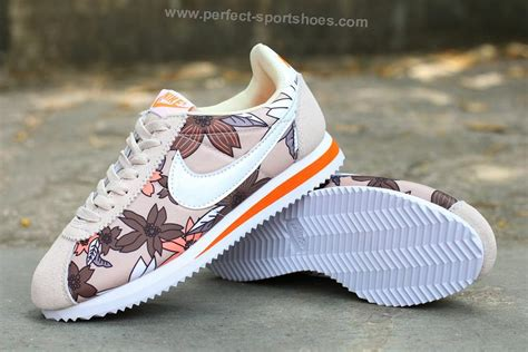 Nike Flower Orange nike classic cortez womens flowers running shoes khaki