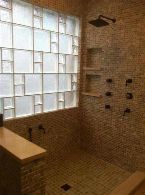 glass block bathroom ideas glass block shower designs photos