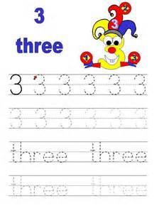 number 3 tracing worksheets for preschool kindergarten