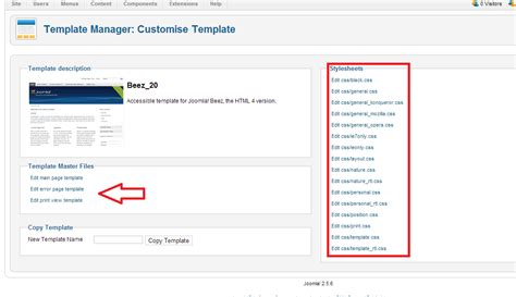 template joomla editor how to edit a template from joomla 2 5 control panel