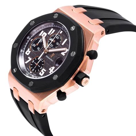 Audemars Piguet Black Rubber audemars piguet black 18kt gold black rubber