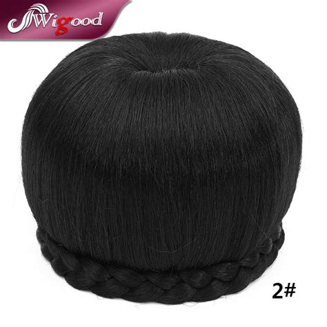 black women clip onm hair buns black hair chignon hairpiece extensions synthetic clip in