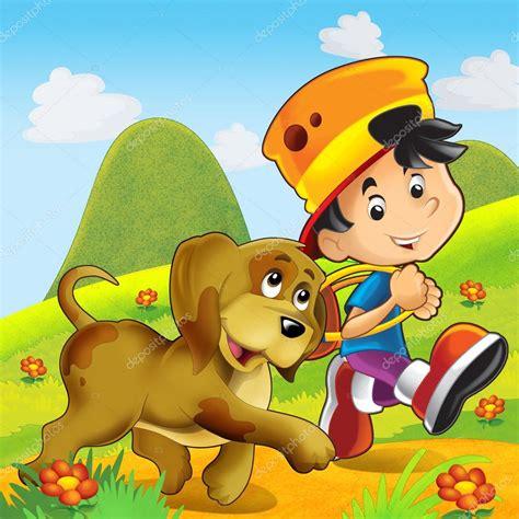 imagenes de niños jugando con un perro el ni 241 o jugando con un perro fotos de stock 12304693
